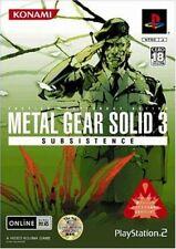 METAL GEAR SOLID 3 SUBSISTENCE PS2 Konami Sony PlayStation 2 From Japan