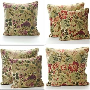 Vintage Floral Piped Jacquard Cushion Cover large and Small