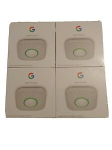 Google S3000BWES Nest Protect Smoke and Carbon Monoxide Alarm - White 4 total