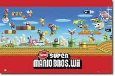 2012 NINTENDO Wii SUPER MARIO BROS VIDEO GAME POSTER NEW 22x34 FREE SHIPPING