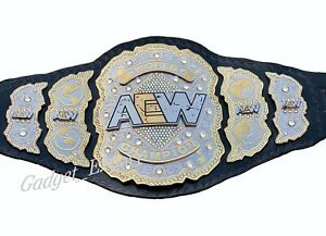 AEW World Championship Leather Wrestling Belt  Excellent Quality