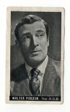 Walter Pidgeon 1947 Kwatta Film Stars Belgium Chocolate Card #60