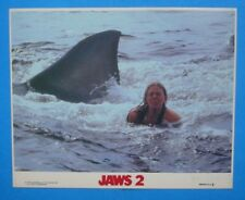 1978 **JAWS 2** 8x10 Color Movie Photo **Swimmer & SHARK** Mini LC NSS 78/513