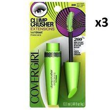 3x Covergirl Lashblast Clump Crusher Extensions Mascara Very Black 840