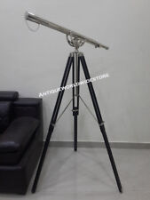 Collectable Brass Telescope  Nautical With Black Wooden Tripod Stand