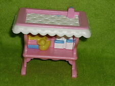 Fisher Price Loving Family Dollhouse Pink Baby Diaper Changing Table