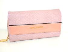 Portefeuille ROSE femme faux cuir portemonnaie bourse clutch bag zip scarff G28