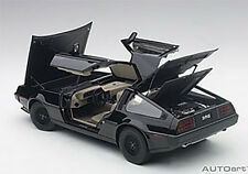 Autoart DELOREAN DMC-12 METALLIC BLACK in 1/18 Scale New Release! In Stock!