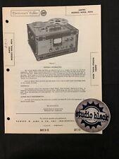 Org Photofact Schematics - Ampex Models 400A, 401A 213-1