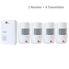 1byone 36 Tunes Wireless Doorbell Chime PIR Alarm 4 Sensors Entry Door Bell Ring