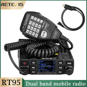 Mobile Car Ham Radio Dual Band UHF/VHF 200CH 25W CTCSS/DCS Retevis RT95