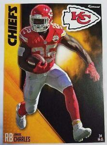 "Jamaal Charles 2016 Fathead Tradeable 5"" x 7"" Kansas City Chiefs team logo - #34"
