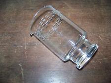VINTAGE CARAFE BEAKER FOOTED ETCHED MODERN GLASS