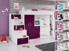 NEU! Etagenbett Hochbett Hochglanz Kinderbett mit Farbauswahl Regal Bett Schrank