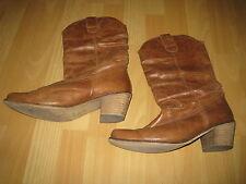 Bottes marron Faith en cuir style cowboy P 42