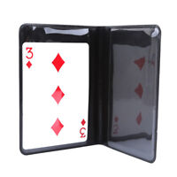 Magnetic Card Trick Coin Card Tricks Routines for Street Magic Tricks Supplies D