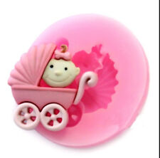 Baby Carriage Mini Silicone Molfor Fondant, Gum Paste, Chocolate, Crafts