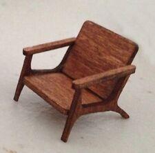 Dollhouse Miniature Quarter Scale Mid Century Modern LOUNGE Chair KIT - 1:48