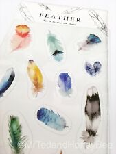 Cute Kawaii Stickers Feathers Boho Deco Diary Journal Scrapbook Planner Supplies