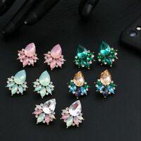 Mode Elegante Kristall Strass Ohrclip Stud Dangle Drop Ohrringe Schmuck 2*2.5cm