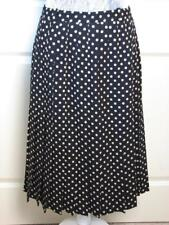 JLS Jean Louis Scherrer Boutique Pleated Polka Dot Wool Skirt CB01