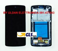 TOUCH SCREEN VETRO + LCD DISPLAY + FRAME LG Google Nexus 5 D820 D821 Nero