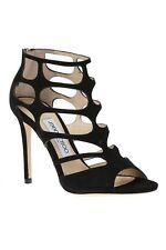 Jimmy Choo Black Suede Sandals Shoes size 4.5/37.5