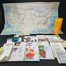 Vintage National Geographic Close Up USA Maps Box Plus Huge Map Collection