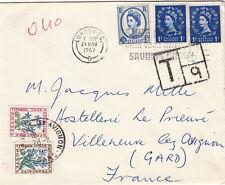 Lettre/Cover England London pour la France Timbre Taxe 1967