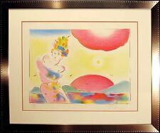 "Peter Max ""Sunrise II"" Pencil Signed & Numbered Custom Framed Vintage Lithograph"