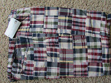 NEW GEOFFREY BEENE PLAID REVERSIBLE SHORTS MENS 42 REVERSES TO NAVY FREE SHIP