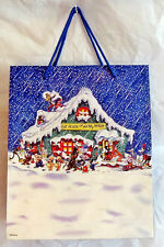 "Disney ~MICKEY`CLASSIC CHARACTERS~HOLIDAY~Gift Bag~12""~Disney Store~NIB"