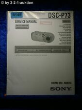 Sony Service Manual DSC P73 Level 1 Digital Still Camera (#6145)