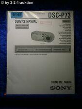 Sony Service Manual DSC P73 Level 1 Digital Still Camera (#6145)