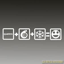 quattro aufkleber Quattro+turbo+Schnee=Fun Sticker quattro autoaufkleber turbo