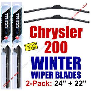 WINTER Wiper Blades 2-Pack Super-Premium - fit 2011-2014 Chrysler 200 35240/220