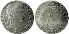 NAPOLEONE IMPERATORE , 5 FRANCHI TESTA LAUREE ARGENTO , 1809 L BAYONNE