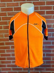 Louis Garneau Bright Orange Full Zip Mens XXL Cycling Evan's Jersey Polyester