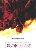 Dragonheart movie poster Dennis Quaid poster, Dragon poster, Sean Connery