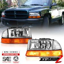 97-04 Dakota 98-03 Durango Replacement Headlight Corner Bumper Marker Lamp Pair