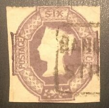 Great Britain Uk England 1847 #7 Cut Square 6p 6 Pence Stamp Cv $875 Pvlh