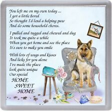 "German Shepherd Dog Coaster ""HOME SWEET HOME Poem ..."" Novelty Gift by Starprint"