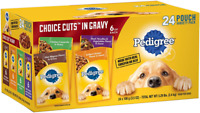 Pedigree Choice Cuts in Gravy Adult Wet Dog Food Pouches, 3.5 oz. 24 Pouches