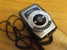 Vintage Gold Crest Camera Light Meter with Leather Snap Close Case