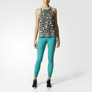 Adidas BS2878 Performance 7-8 Stella MC Cartney Tights Blue All Sizes