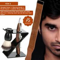 4 In 1 Men'S Barber Shaving Shave Razor Brushes Tools Portable Travel Set Z3X3
