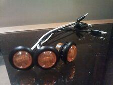 """3 pk 3/4"""" Amber LED Clearance Truck Light Side Marker Flush Mount Hot Spot Kit"""