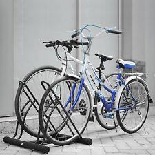2 Bike Floor Bike Stand Bicycle Storage Rack Garage Shed Parking Locking Rack US