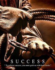 Horse Motivational Poster Art Western Decor Cowboy Rodeo Saddle Success MVP465