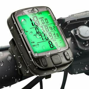 Waterproof LCD Digital Computer Bicycle Bike Backlight Speedometer Odometer US